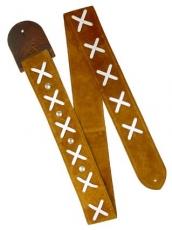 Δερμάτινη ζώνη κιθάρας Minotaur Hendrix brown & white x